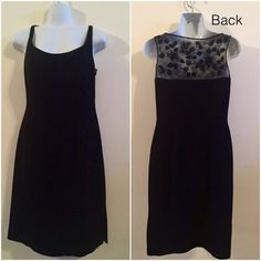 Liz Claireborne black cocktail dress Elegant and simple sleveless black dress. With nice beaded accent on the back. In very good condition. Check out my other items and bundle to save.  Perfect for Valentine's Day date.Size small. Liz Claiborne Dresses