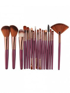 MakeUp Brushes Set Wakeu Makeup Brush Set Tools Face Toiletry Powder Foundation Eyebrow Eyeliner Eyeshadow Lip Blush Cosmetic Concealer Brushes Kits Pink >>> Click image for more details. (This is an affiliate link) Eye Makeup Brushes, It Cosmetics Brushes, Makeup Brush Set, Makeup Cosmetics, Beauty Brushes, Eyebrow Brush, Eyeliner Brush, Drugstore Makeup, Cosmetic Brushes