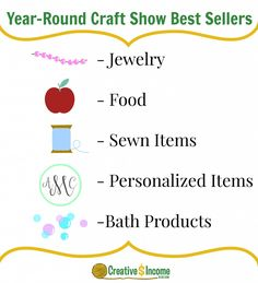 Year-Round Craft Show Best Sellers | These items always do well at craft fairs!