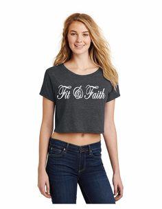 Teen's Fit & Faith Half Tee Dark Gray T-Shirt Size S- 4XLL #FIG #GraphicTee