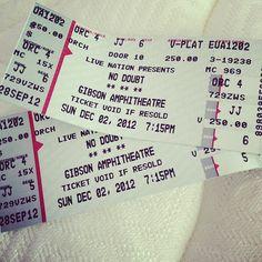 @Ruth Santacruz Ticket Stubs, Concert Tickets