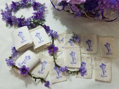 10 Empty Lavender Stamped Ivory Cotton Drawstring Bags for Lavender or Potpourri Sachets,Drawstring Pouches,Lavender Wedding Shower Favors by DIYCraftingSupply on Etsy https://www.etsy.com/listing/457813084/10-empty-lavender-stamped-ivory-cotton