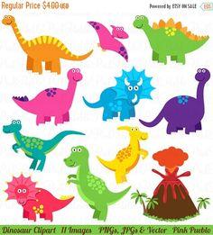VENTA de mitad dinosaurio Imágenes Prediseñadas, dinosaurio Clip Art, gran invitación de dinosaurio, dinosaurio cumpleaños o fiesta de dinosaurios - comercial y por