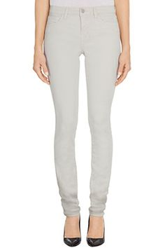 J Brand, 8112 Luxe Sateen Rail in Chalk, chalk, Womens : Straight, 8112V090
