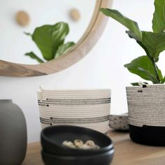This awesome basket is great to use for pot plants, or for holding kitchen utensils, hand towels, bathroom accessories, baby products, miscellaneous collections or pretty much anything else your heart desires!   Mia Mélange planters are made from 100% cotton rope which we carefully sew together in a coiling technique. The cotton is grown locally in South Africa by farmers who are members of the Better Cotton Initiate (BCI). Pot Plants, Cotton Rope, Kitchen Utensils, Baby Products, Hand Towels, Bathroom Accessories, Farmers, South Africa, Planters