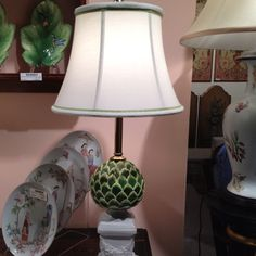 Style Spotter Jamie Meares spotted this granny chic lamp at Jeanne Reeds. Lamp Light, Light Up, Clean Sheets, High Point Market, Granny Chic, Furniture Market, Lamp Shades, Lanterns, Sweet Home