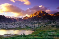 Titcomb Basin Sunset, Wind River Range, Wyoming by Beau Rogers, via 500px