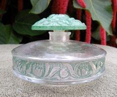 Lalique perfume bottle, signed