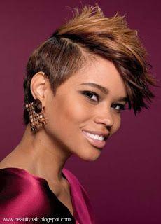 Black women with short haircuts.   beauty hair