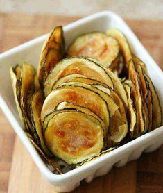 Zucchini oven chips.