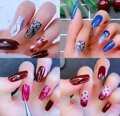 Beginner Nail Designs, Nail Art Designs Videos, Nail Art For Beginners, Nail Art Videos, Best Nail Art Designs, Simple Nail Designs, Nail Art Hacks, Nail Art Diy, Cool Nail Art