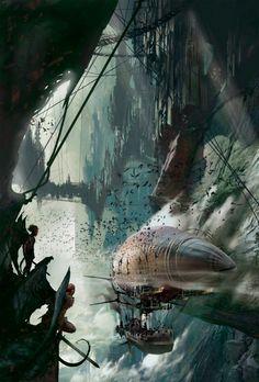 #steampunk #clockpunk #fantasy Cover art for the clockpunk fantasy novel, Mainspring, by Jay Lake. http://www.goodreads.com/book/show/1296444.Mainspring