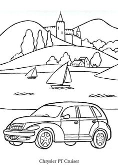 Pt Cruiser Coloring Pages – Coloring for every day Chrysler Pt Cruiser, Chrysler 200, Land Cruiser Car, Toyota Fj Cruiser, Printable Coloring Pages, Coloring Pages For Kids, Coloring Books, Painting For Kids, Drawing For Kids