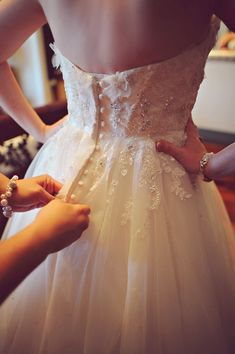 Embellished dress with a button-down back   Photo by Arina B. Photography