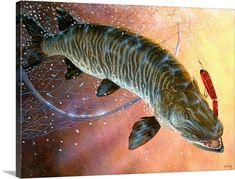 Pike Fishing, Fly Fishing, Fishing 101, Fishing Stuff, Cool Fish, Big Fish, Fish Artwork, Wall Art Prints, Canvas Prints