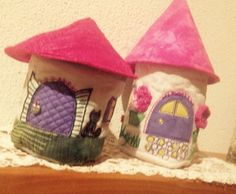 Fairy houses - made by Irmgard Crafts To Make, Arts And Crafts, House Made, Fairy Houses, Felting, Folk, Felt, Felt Fabric, Popular
