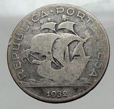 1932 PORTUGAL Portuguese Silver 5 Escudos Coin CARAVELLE Sail Boat Ship i62979 https://noahweigall.wordpress.com/2017/09/22/1932-portugal-portuguese-silver-5-escudos-coin-caravelle-sail-boat-ship-i62979-3/