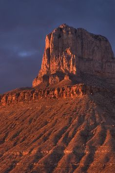 El Capitan Mountain at sunset, Guadalupe Mountains National Park, Texas