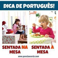 Nosso Português é Nossa Cultura. - Dicas de português / grammar tips - Comunidade - Google+ Portuguese Grammar, Portuguese Lessons, Portuguese Language, Learn Brazilian Portuguese, Study Organization, Entrance Exam, True Colors, Portugal, Learning