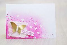 Stampin-up-Karte-Spruch-reif-Gorgeous-Grunge-Stanze-Eleganter-Schmetterling-Goldfolie-Wassermelone #stampinup #schnipseldesign