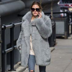 Olivia Palermo's Fur Coat
