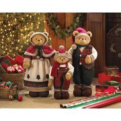 Plush Santa Clause Bear Family