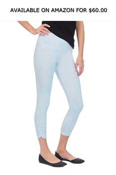 3f35b594c1 Lysse Women's Bestselling Ruched Crop Legging Pants (Blue Mist Melange,XS)  ◇ AVAILABLE