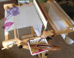 10 Tips on Weaving Transparencies on a Rigid Heddle Loom – Schacht Spindle Company Inkle Weaving Patterns, Weaving Yarn, Hand Weaving, Weaving Projects, Craft Projects For Kids, Arts And Crafts Projects, Weaving Techniques, Fabric Manipulation, Beading Patterns