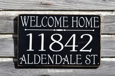 House Numbers Welcome Home Sign Address Plaque Custom Outdoor Lawn Yard Front Door Outside Personalized Wood Home Number Rustic Yard Door Post Porch Signs Plus