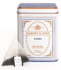 Paris Tea from Harney & Sons - a fruity black tea with vanilla and caramel flavors, and a hint of lemony Bergamot