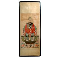 A Chinese Ancestoral Portrait   1stdibs.com