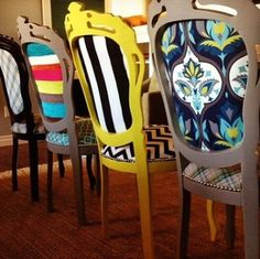 Have fun with your dining room chairs