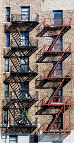 Fire escapes on the Grand Concourse, the Bronx.