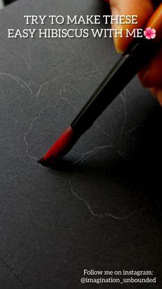 Art Drawings Beautiful, Art Drawings Sketches Simple, Watercolor Art Lessons, Art Painting Gallery, Mini Canvas Art, Diy Videos, Follow Me On Instagram, Gouache, Hibiscus