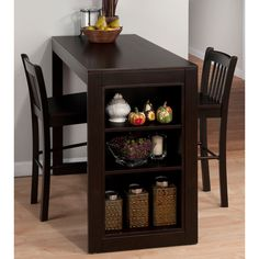 Great idea for pictures or seasonings, butter, etc  Maryland Counter Height Dining Table & Stools by Jofran