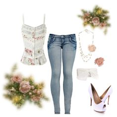 """Floral"" by wonderland449 on Polyvore"