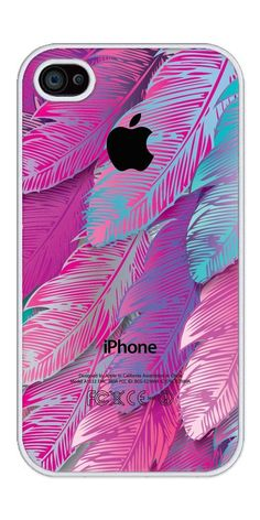 Feathered iPhone 4 or Case with a Purple and Pink Color Scheme. Cool Iphone Cases, Cool Cases, Cute Phone Cases, 4s Cases, Portable Apple, Apple Coque, Imac Laptop, Rubber Iphone Case, Coque Iphone 6