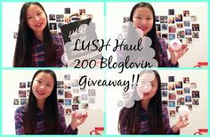 LUSH Haul + 200 Bloglovin Giveaway!!   Asia Jade