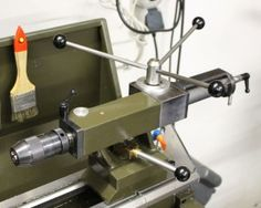 Lathe tailstock modified to a rack/pinion action