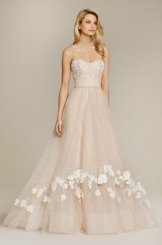 3112 best bridal gowns part one images on pinterest wedding a beautiful strapless blush pink wedding dress jim hjelm fall 2015 junglespirit Image collections
