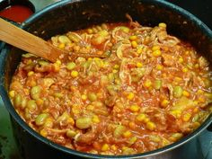 Brunswick Stew, stir it again.