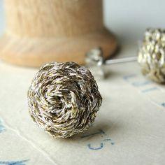 Braided Stud Earrings  Metallic  Small  Nickel Free by ashdel, $38.00