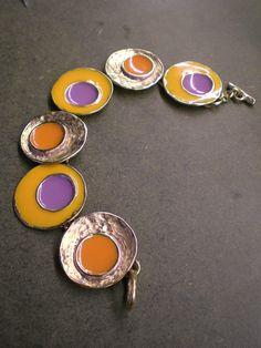bracelet multicolor polish handmade by Laura Volpi for Vulcanica