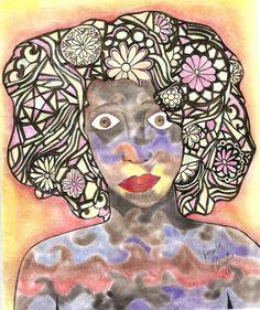 Consciência - Giz pastel seco, lápis de cor neon, caneta hidrocor, lápis de cor comum.  https://agsartssite.wordpress.com/