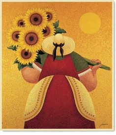Sunflower Harvest Preparing for the Fair Black and White In Search of the Truffle The Crush Piglet Bijou Brown Troubles Cypress & Hay (с) Lowell Herrero Oil Painting Abstract, Painting & Drawing, Abstract Art, Painting Canvas, Art Fantaisiste, Plus Size Art, Fat Art, Sunflower Art, Naive Art