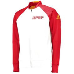 Spain National Team adidas Anthem Full-Zip Woven Jacket - White/Red - $97.99