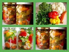 Smaczna Pyza: Pikle warzywne czyli zapasy na zimę A Food, Food And Drink, Polish Recipes, Preserves, Sushi, Salads, Recipies, Frozen, Soup