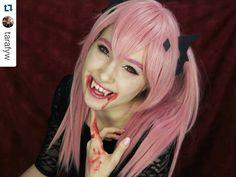 #Repost @tarafyw with @repostapp  NEW VIDEO: Krul Tepes Cosplay Makeup Tutorial!  follow the link in my bio to watch  #krul #krultepes #krultepescosplay #owarinoseraph #seraphoftheend #anime #manga #vampire #vampirequeen #vampirecosplay #otaku #kawaii #makeup #tutorial #cosplaymakeup #youtube #youtuber #cosplay #cosplayer #girlswhocosplay #fangs #blood
