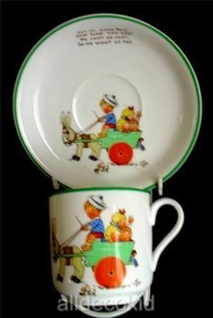 Mabel Lucie Attwell Childs Ned Donkey Cup and Saucer.