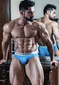 Muscle Men Bulge, Muscle Hunks, Big Muscles, Hommes Sexy, Moustaches, Muscular Men, Pose, Hairy Men, Male Beauty